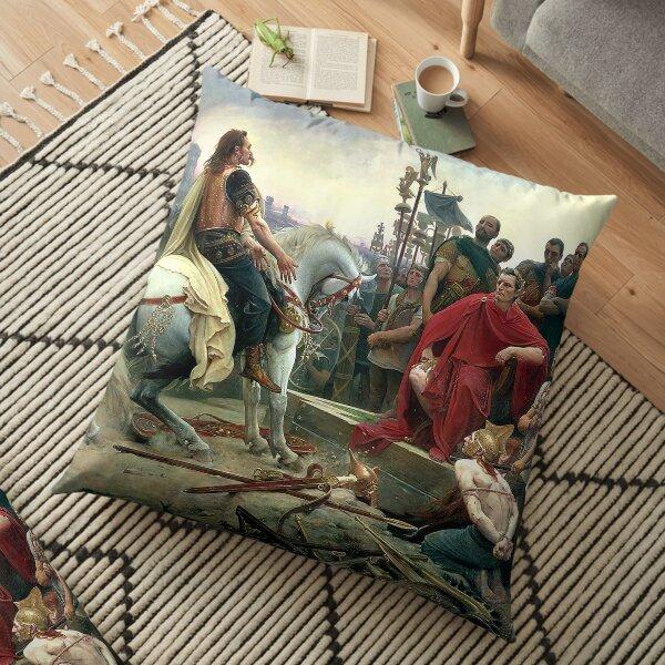 Vercingetorix Throws Down His Arms At The Feet Of Julius Caesar Floor Pillow