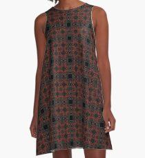 Black Squares II A-Line Dress