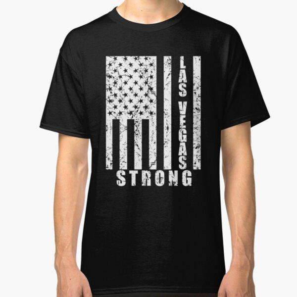 Las Vegas Strong - USA flag Nevada NV US State Classic T-Shirt