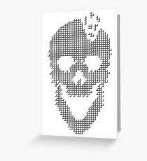 Skull Tetris Greeting Card