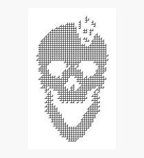 Skull Tetris Photographic Print