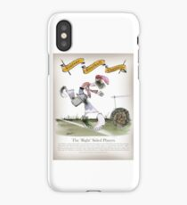 Vintage Football Red White Stripes Right Winger iPhone Case/Skin