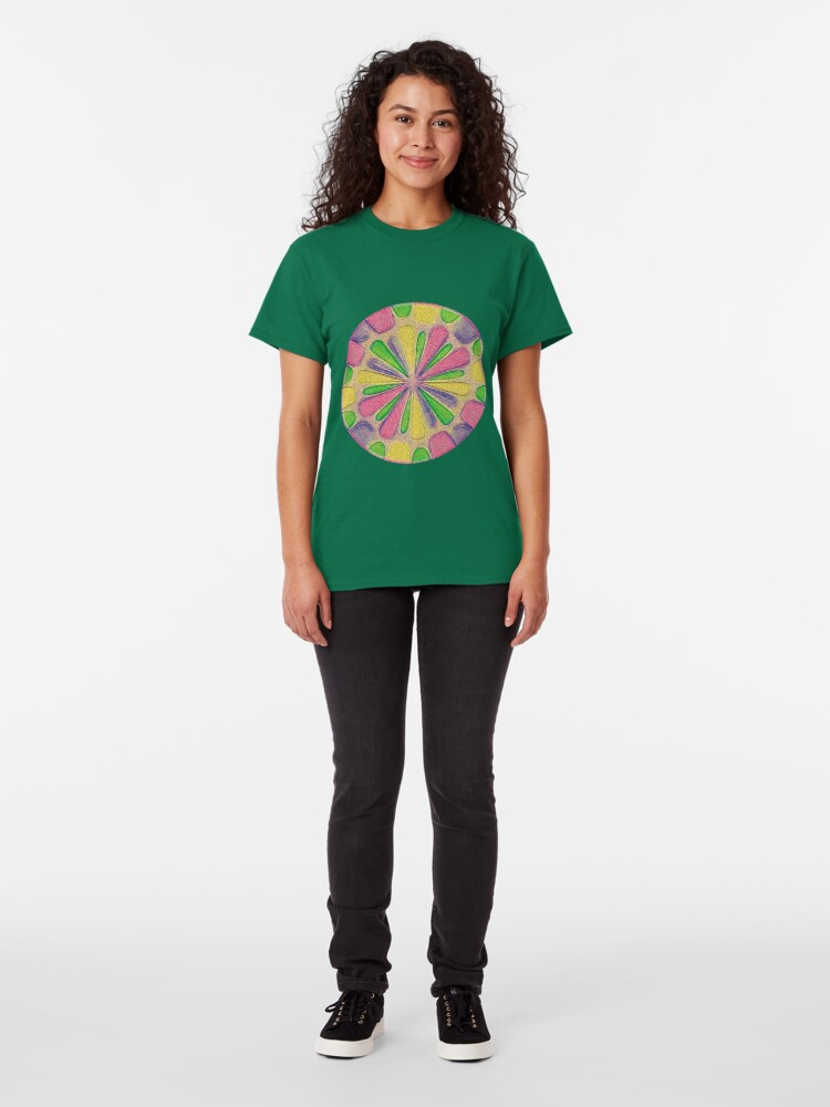 Alternate view of Abstract Flower Classic T-Shirt