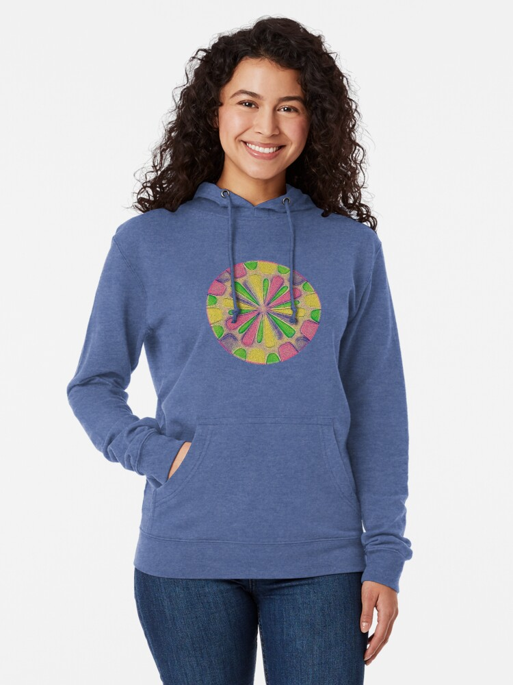Alternate view of Abstract Flower Lightweight Hoodie