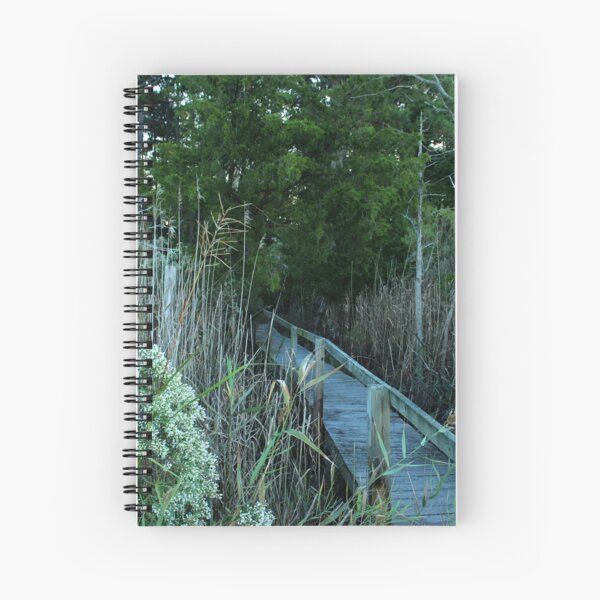 Leaving the dock Spiral Notebook