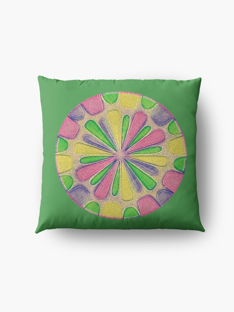 Alternate view of Abstract Flower Floor Pillow