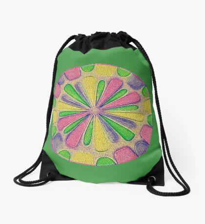 Abstract Flower Drawstring Bag