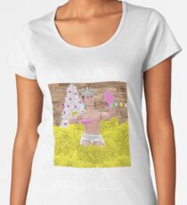 A Gay In A Manger! (Funny, Gay Christmas Design) Women's Premium T-Shirt