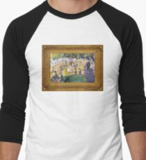 A Sunday Afternoon on the Island of La Grande Polygon Men's Baseball ¾ T-Shirt