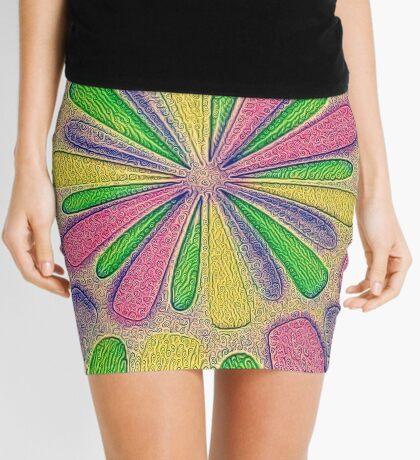 Abstract Flower Mini Skirt