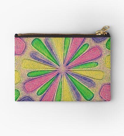 Abstract Flower Zipper Pouch