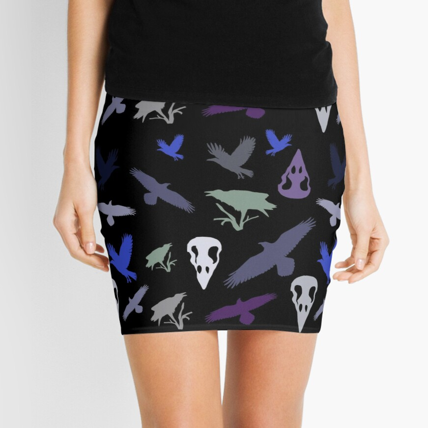 Raven halloween Mini Skirt