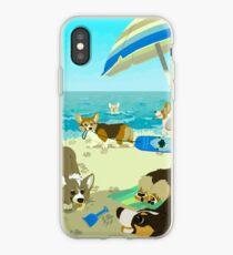 Welpen am Corgi Beach iPhone-Hülle & Cover