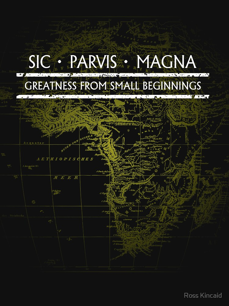 Uncharted - SIC PARVIS MAGNA (Black) by the-flash