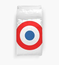 Roundel, Tricolore, cockade, French, Air Force, Bullseye, combat, aircraft, First World War Duvet Cover
