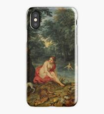 Bathing Nymphs (Diana's nymphs returning from fishing) Jan Brueghel the Elder iPhone Case/Skin