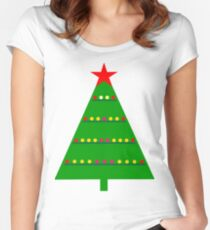 Christmastree. Women's Fitted Scoop T-Shirt