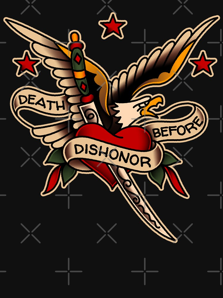 American Traditional Death Before Dishonor Design by salty-dog