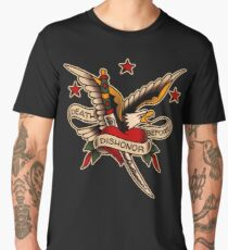 American Traditional Death Before Dishonor Design Men's Premium T-Shirt