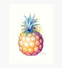 Fat Pineapple 2 Art Print