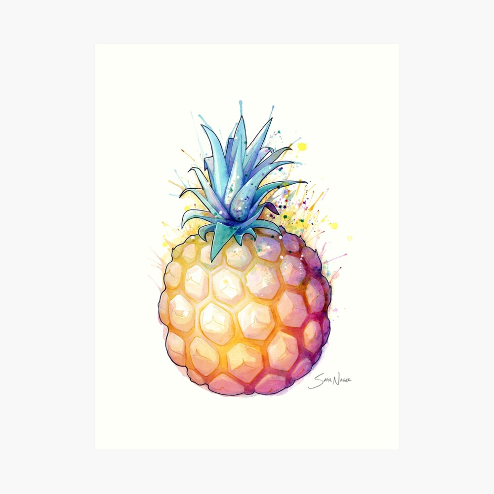Fat Pineapple 2 Art Print