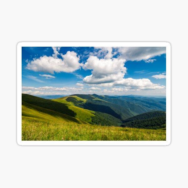 mountain ridge on a cloudy day Sticker