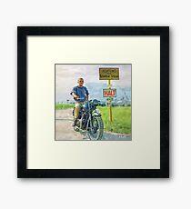 """Steve McQueen - Oil on Canvas Painting 2 """"Halt"""" Framed Print"""