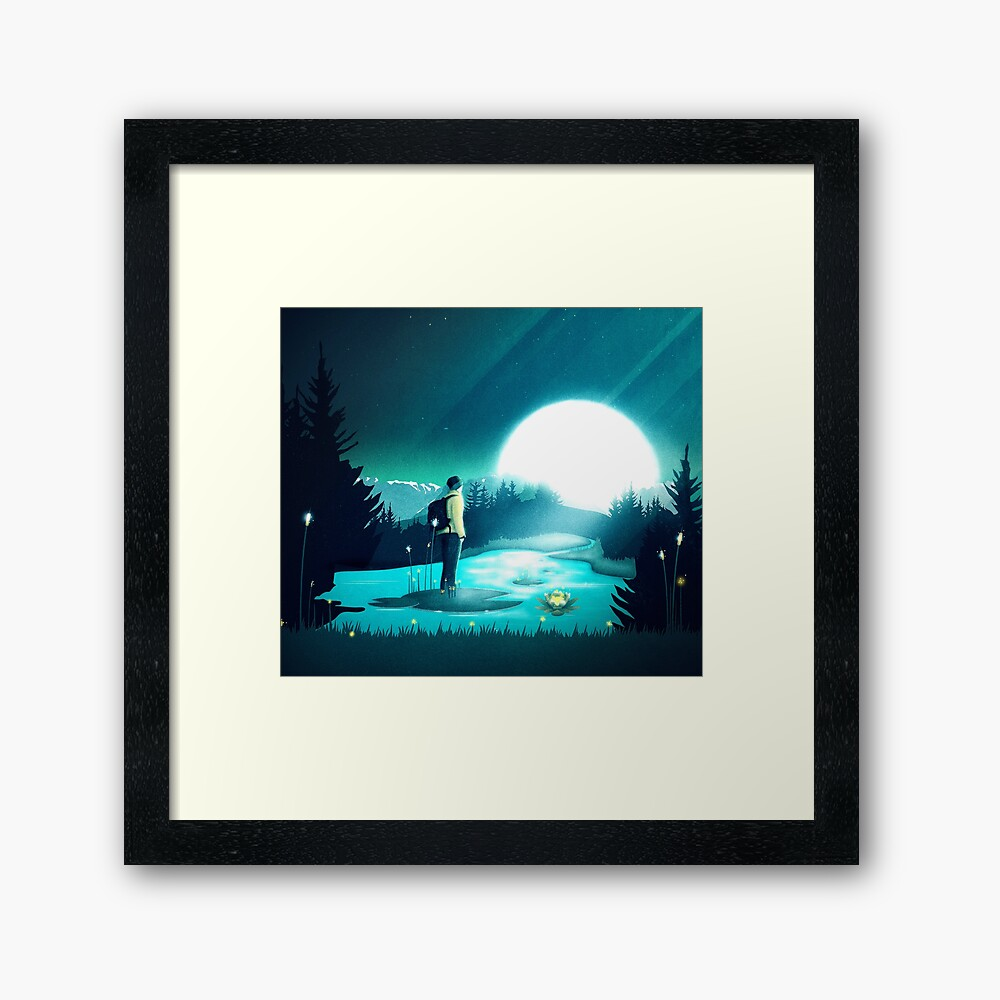 Lost in the Moment Framed Art Print