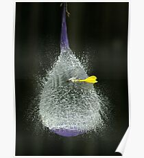 Purple balloon & dart Poster