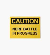 Nerf Battle in Progress Art Board