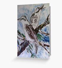 Kookaburras Greeting Card