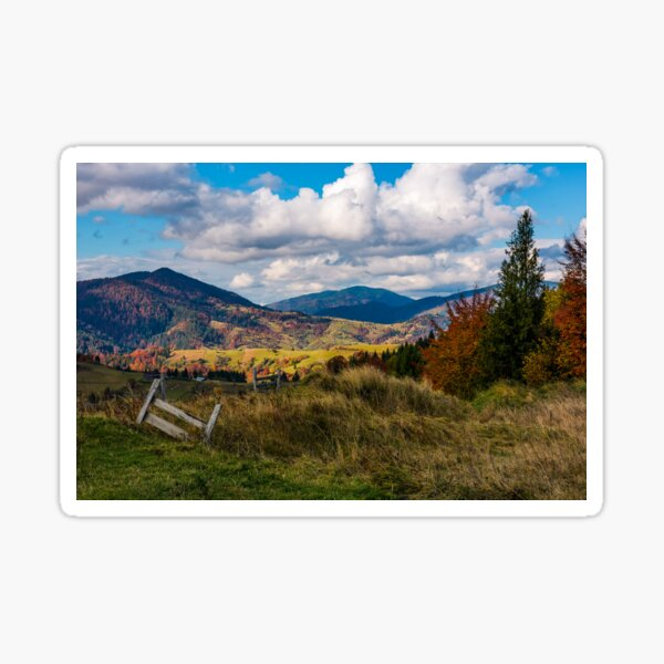 magnificent mountainous rural landscape in autumn Sticker