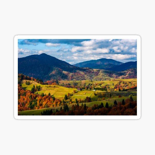 magnificent mountainous landscape in autumn Sticker