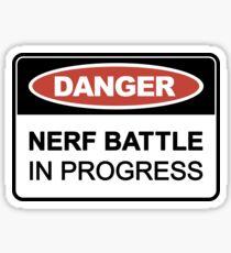 Nerf Battle in Progress Sticker