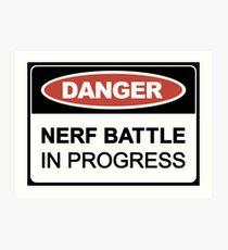 Nerf Battle in Progress Art Print