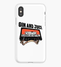 Classic Hip-Hop Mixtape - Gin and Juice iPhone Case/Skin