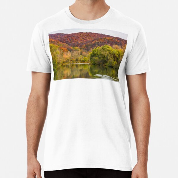 river in mountains among the forest in autumn Premium T-Shirt