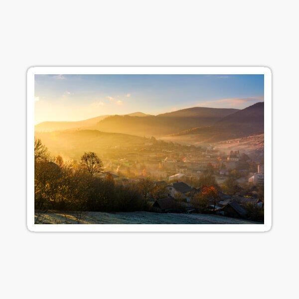 spectacular sunrise in mountainous countryside Sticker
