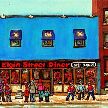 OTTAWA PAINTINGS OTTAWA ART OTTAWA DELIS ELGIN STREET DELI IN OTTAWA by CaroleSpandau