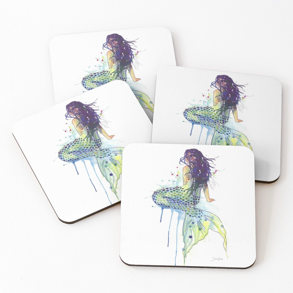 Mermaid Coasters (Set of 4)