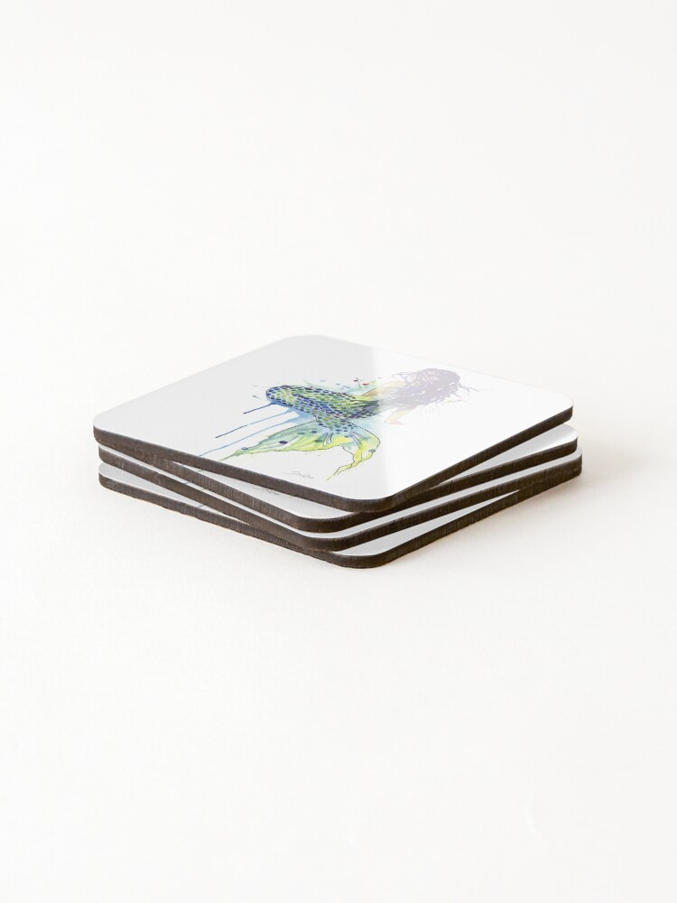 Alternate view of Mermaid Coasters (Set of 4)