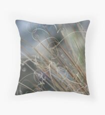 Wild grass - Nature confetti Throw Pillow