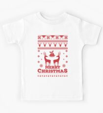 Ugly Christmas Sweater Reindeer Xmas T Shirt Kids Tee