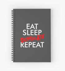 EAT SLEEP DOMINATE Spiral Notebook