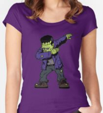 Dabbing Frankenstein Fitted Scoop T-Shirt