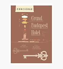 The Grand Budapest Hotel- Wes Anderson Photographic Print