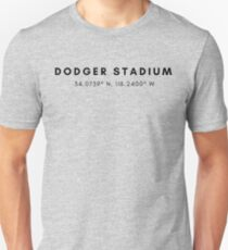 Dodgers Stadium Lat/Long Unisex T-Shirt