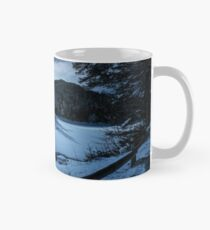 spruce forest on winter night in full moon light Mug