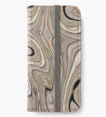 kühle Steinbeschaffenheits-Sonnenbräune wirbelt braune Marmorstrudel iPhone Flip-Case/Hülle/Klebefolie