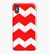 Abstract geometric pattern - zigzag - red and white. iPhone Case/Skin